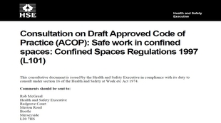 seeking-your-views-on-the-revised-version-of-the-acop-relating-to-the-confined-spaces-regulations