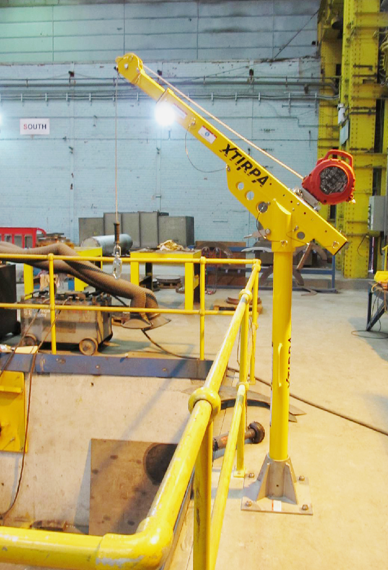 xtripa davit arm from Genesi for confined spaces