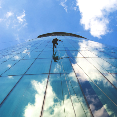 window cleaning high rise buildings