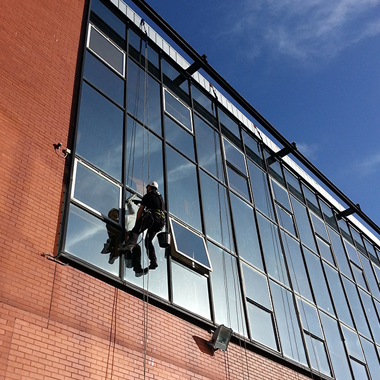 rope access window cleaning commercial business