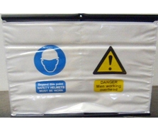 Fold Away Men Working Overhead Safety Sign