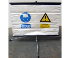 Working Overhead Fold Away Sign c/w stand and bag.