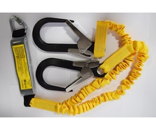 1.5m Elasticated Double Lanyard + Scaffold Hooks