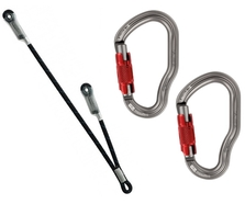 Petzl PROGRESS Double Lanyard + VERTIGO TWISTLOCKS