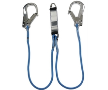1.5m Fall Arrest Y Double Lanyard with Scaff Hooks