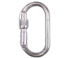10mm Foin 4240 Oval Steel Screwgate Karabiner.